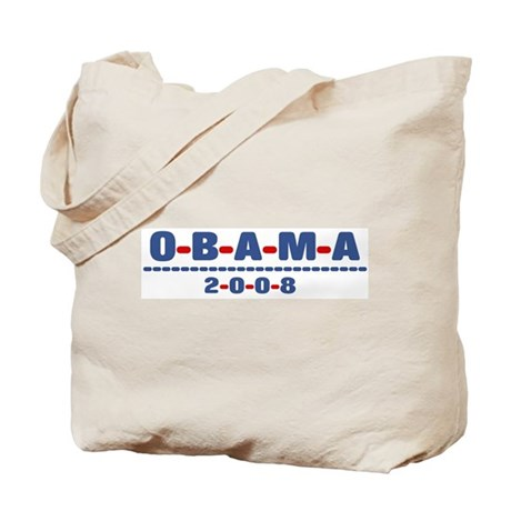 Obama 2008 (dash) Tote Bag