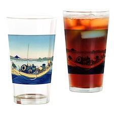 Hokusai Sunset across Ryogoku Bridge Drinking Glas