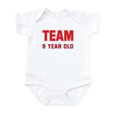 Team 9 YEAR OLD Onesie