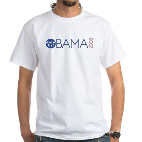 Join Obama 2008 White T-Shirt