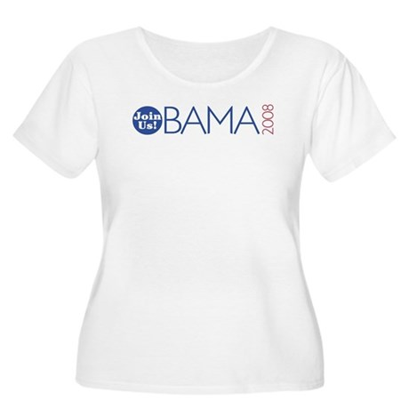 Join Obama 2008 Women's Plus Size Scoop Neck T-Shi