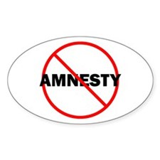 No Amnesty Oval Decal