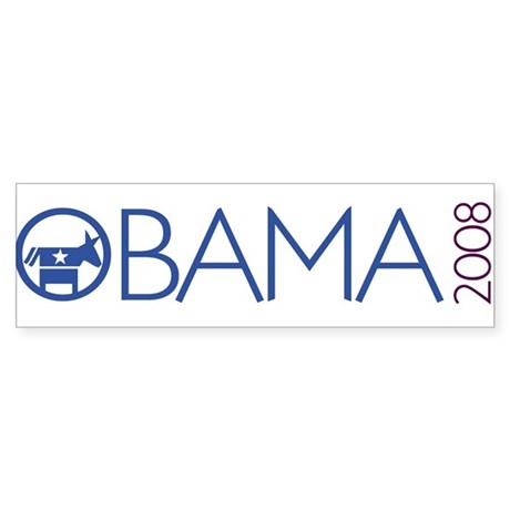 Obama 2008 (democrat) Bumper Sticker