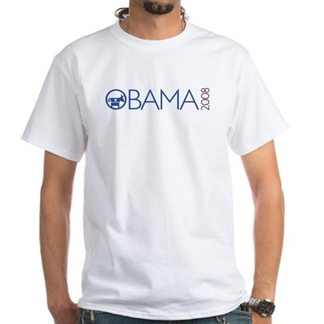 Obama 2008 (democrat) White T-Shirt
