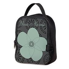 Custom Vintage Style Patterned Neoprene Lunch Bag