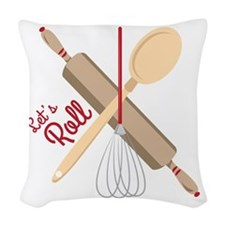 Lets Roll Woven Throw Pillow