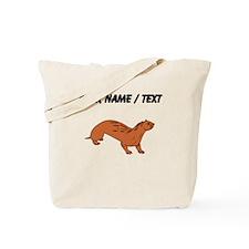 Custom Brown Otter Tote Bag