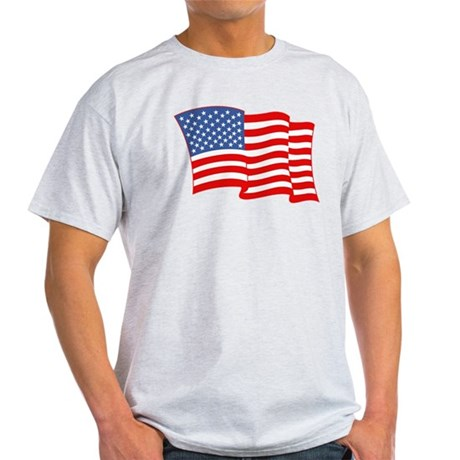 American Flag 4th Of July Light T-Shirt