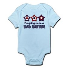 4th of July big Sister Infant Bodysuit
