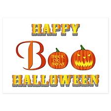 Halloween - Boo Pumpkin Invitations