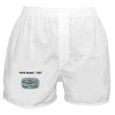 Custom Manatee And Calf Boxer Shorts