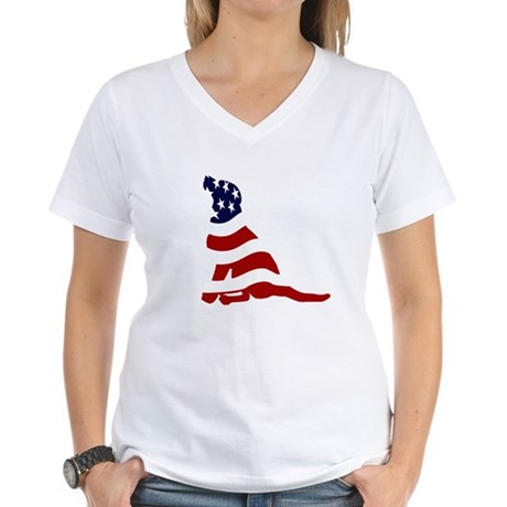 Patriot Lab -  Women's V-Neck T-Shirt