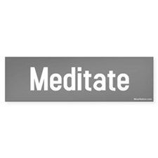 meditate Bumper Car Sticker
