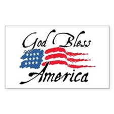 God Bless America v2 Rectangle Decal