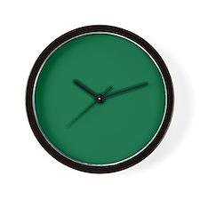 Dark Spring Green Solid Color Wall Clock