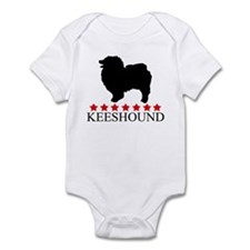 Keeshound (red stars) Infant Bodysuit