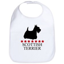 Scottish Terrier (red stars) Bib