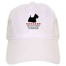 Scottish Terrier (red stars) Baseball Cap