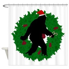 Gone Christmas Squatchin' Shower Curtain
