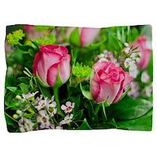Pink Roses Bouquet Pillow Sham