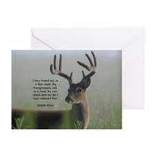 Return Unto Me Buck - Isaiah 44:22 Greeting Cards