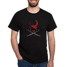 Samurai Helmet and Swords T-Shirt