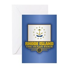 Rhode Island (v15) Greeting Cards
