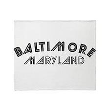 Baltimore Maryland Throw Blanket