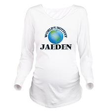 World's Hottest Jaed Long Sleeve Maternity T-Shirt