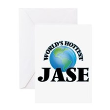 World's Hottest Jase Greeting Cards