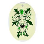 Green Man Oval Yule Tree Ornament