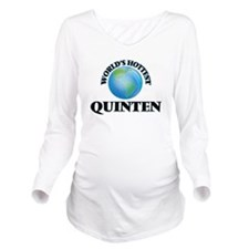 World's Hottest Quin Long Sleeve Maternity T-Shirt