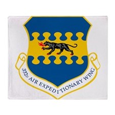 332 Air Expeditionary Wing.png Throw Blanket