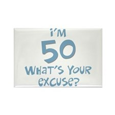 50th birthday excuse Rectangle Magnet (10 pack)
