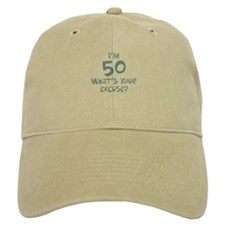 50th birthday excuse Baseball Cap