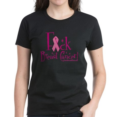 Fuck Breast Cancer Women's Dark T-Shirt