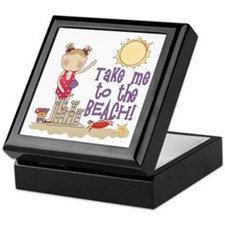 To the Beach (Girl) Keepsake Box