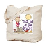 To the Beach (Girl) Tote Bag