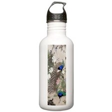 12thC Peacocks Peonies Water Bottle
