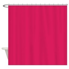 Raspberry Red Solid Color Shower Curtain