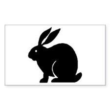 Bunny Rabbit Rectangle Decal