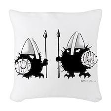 Viking Hedgehogs! Woven Throw Pillow