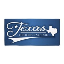 Texas State of Mine Beach Towel