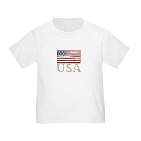 USA Distressed Flag 4th of July Toddler T-S