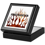 Firefighter Tribal Flames Keepsake Box