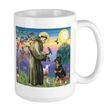 St. Francis and Rottweiler  Mug