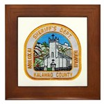Kalawao County Sheriff Framed Tile