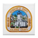 Kalawao County Sheriff Tile Coaster