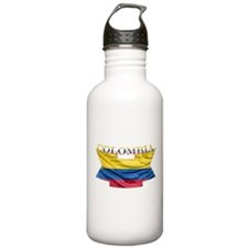 Colombia Flag Ribbon Water Bottle