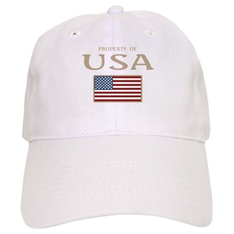 Property of USA Flag July 4th Cap